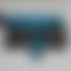 Portefeuille complice simili cuir turquoise et noir motif oiseaux modèle sous licence sacotin