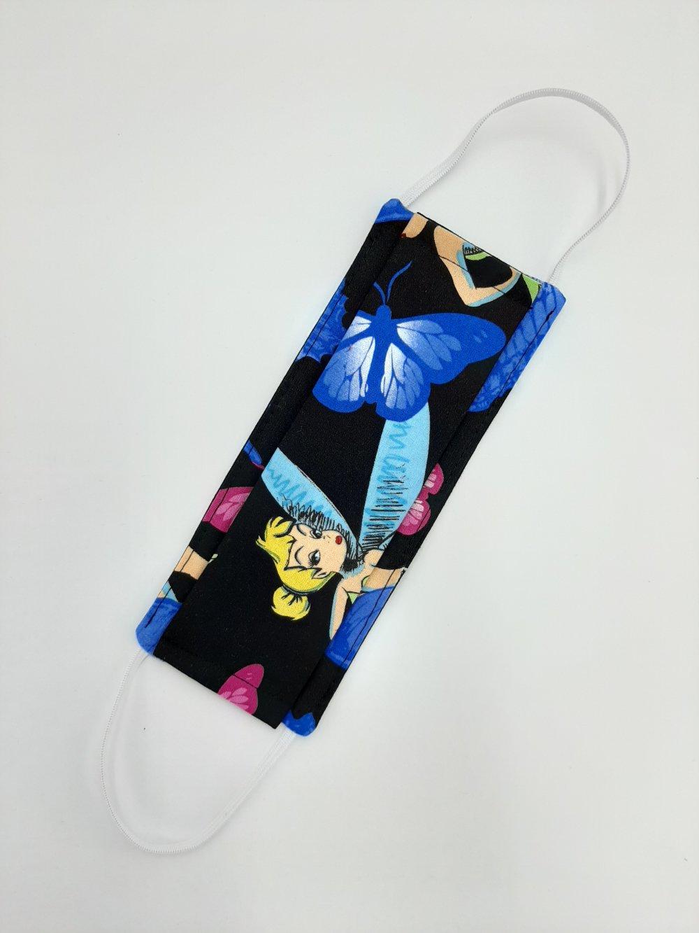 Masque protection tissu lavable enfant selon modèle Afnor