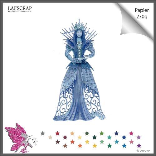 Découpe scrapbooking  personnage reine  femme princesse robe couronne découpe papier embellissement die cut création