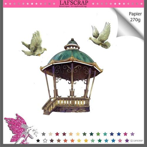 Découpes scrapbooking, kiosque arche, mariage noces, escalier colombe oiseau plume animal oiseau, découpe papier embellissement album