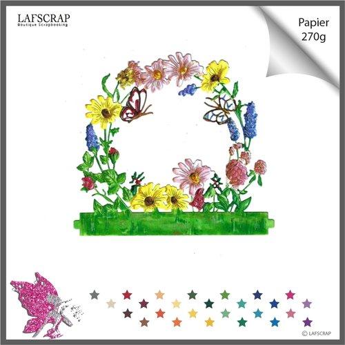 Découpe scrapbooking scrap fleur feuille feuille bordure nature jardin animal papillon découpe papier die cut création embellissement
