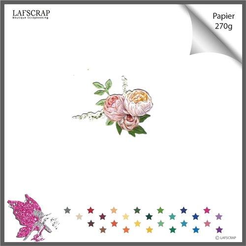Découpe scrapbooking fleur bordure rose feuille jardin nature mariage cadeau anniversaire fête enfant naissance noël nature noeud parfum
