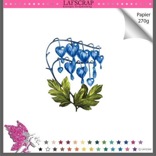 Découpe scrapbooking fleur feuille clochettes nature jardin forêt mariage fête découpe papier embellissement faire part album photo