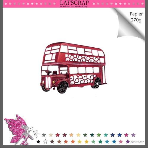 Découpe scrapbooking bus anglais voyage londres jouet enfant noël cadeau véhicule camion découpe papier embellissement album