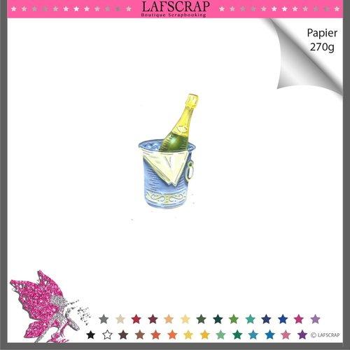 Découpe scrapbooking bouteille champagne seau mariage anniversaire fête enfant naissance noël