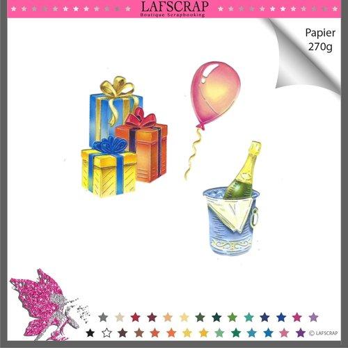 Découpes scrapbooking cadeau noeud ruban bouteille ballon mariage anniversaire fête enfant naissance noël