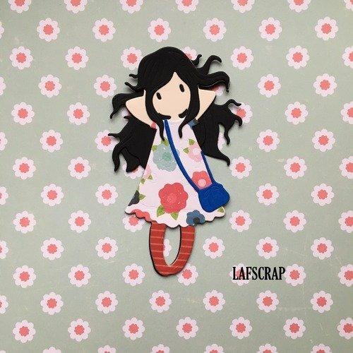 Découpe scrapbooking scrap personnage enfant petite fille cadeau découpe papier embellissement die cut création
