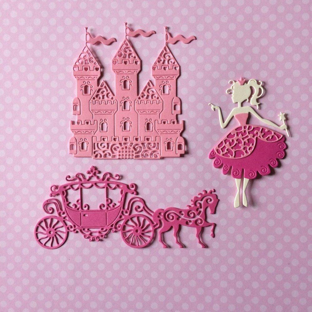 lot découpes scrapbooking scrap château personnage princesse carrosse cheval animal