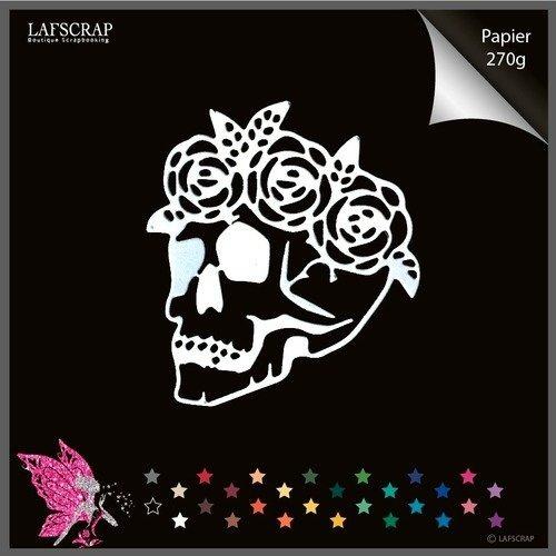 Decoupes Scrapbooking Cadre Halloween Tete De Mort Squelette Araignee Corbeau Oiseau Mot Decoupe Papier Embellissement Album Un Grand Marche