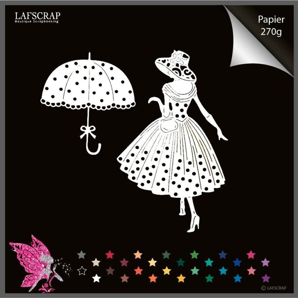 lot découpes scrapbooking,  personnage femme chapeau, parapluie,noeud, robe, vintage, paris, découpe papier embellissement album carte