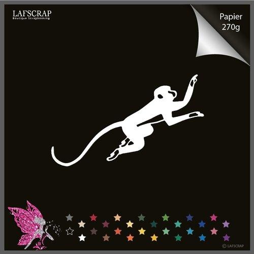 1 découpe scrapbooking, animal singe, découpe papier embellissement album carte création