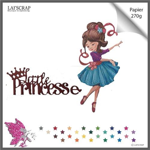 Découpes scrapbooking personnage fille enfant,  robe, mot little , princesse, bébé naissance découpe papier embellissement