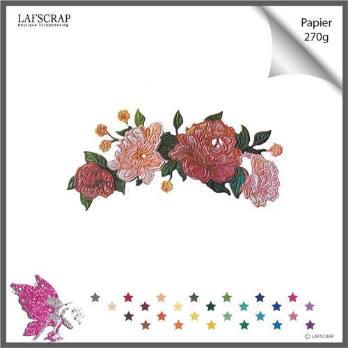 Découpe scrapbooking scrap bordure fleur mariage noces découpe papier die cut création