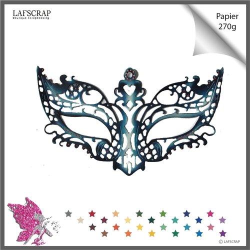 Découpe scrapbooking masque carnaval, plume, ruban, perle cabaret  découpe papier embellissement album