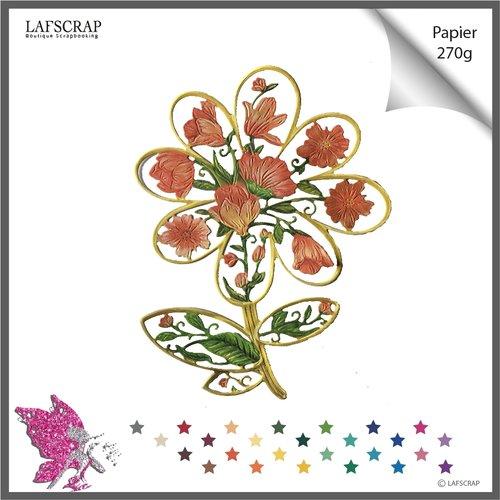 1 découpe scrapbooking, fleur feuille, pâquerette marguerite découpe papier embellissement album