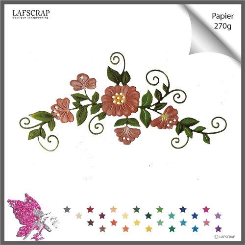 Découpe scrapbooking scrap bordure fleur feuille mariage noces découpe papier die cut création