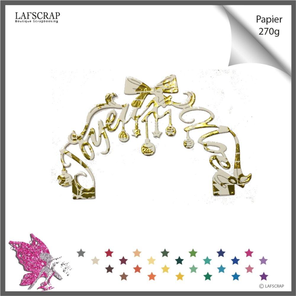 1 découpe scrapbooking arche mot joyeux noël boule noeud découpe papier embellissement die cut création