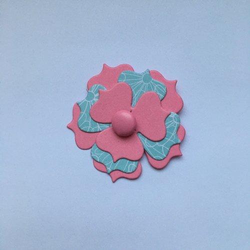 1 découpe scrapbooking fleur avec attache parisienne, bébé naissance mariage noces  découpe papier embellissement carte album création