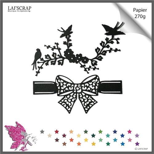 Découpes scrapbooking noeud ruban bordure,  couture  mariage noces, oiseau branche arbre jardin  découpe papier