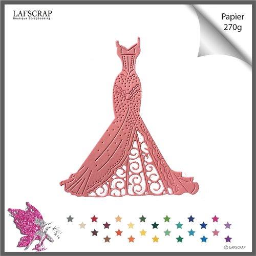 Découpe scrapbooking scrap robe bustier princesse mariée princesse mariage noces amour cabaret mannequin enfant fille mannequin