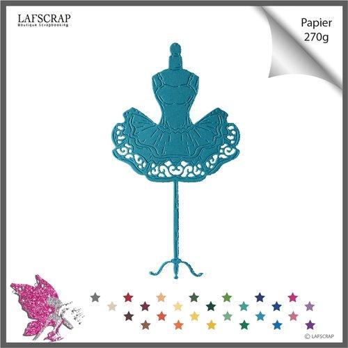 1 découpe scrapbooking mannequin robe tutu, couture ballerine danseuse découpe papier