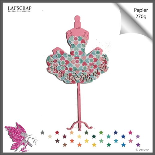 Lot découpes scrapbooking mannequin robe tutu, couture ballerine danseuse,  découpe papier