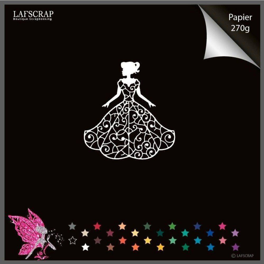 1 découpe scrapbooking scrap personnage princesse robe découpe papier embellissement die cut création