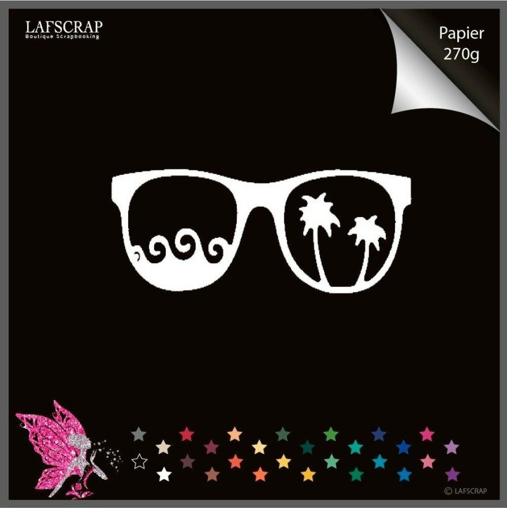 Découpe scrapbooking lunettes de soleil mer palmier découpe papier embellissement die cut création