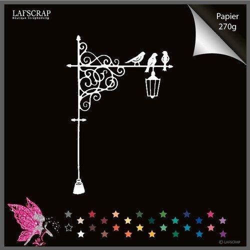 Découpe scrapbooking lampadaire oiseau arbre lanterne noël découpe papier scrap embellissement album
