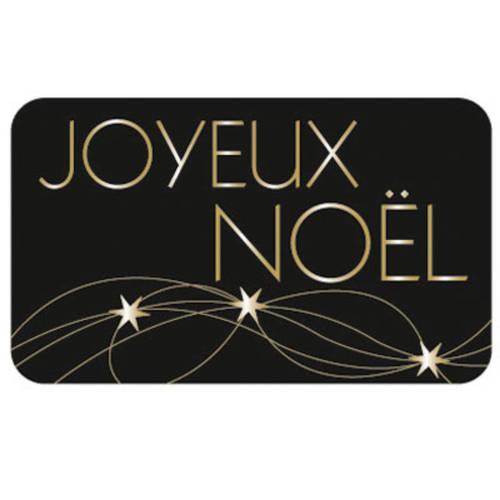 10 Etiquettes Autocollantes Joyeux Noel Noir Et Or Un Grand Marche