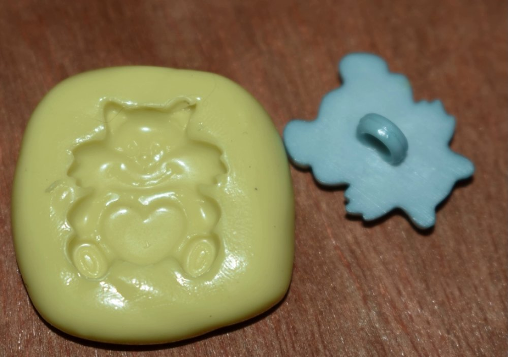 moule silicone cabochon chat coeur resine epoxy , fimo,plâtre,chocolat