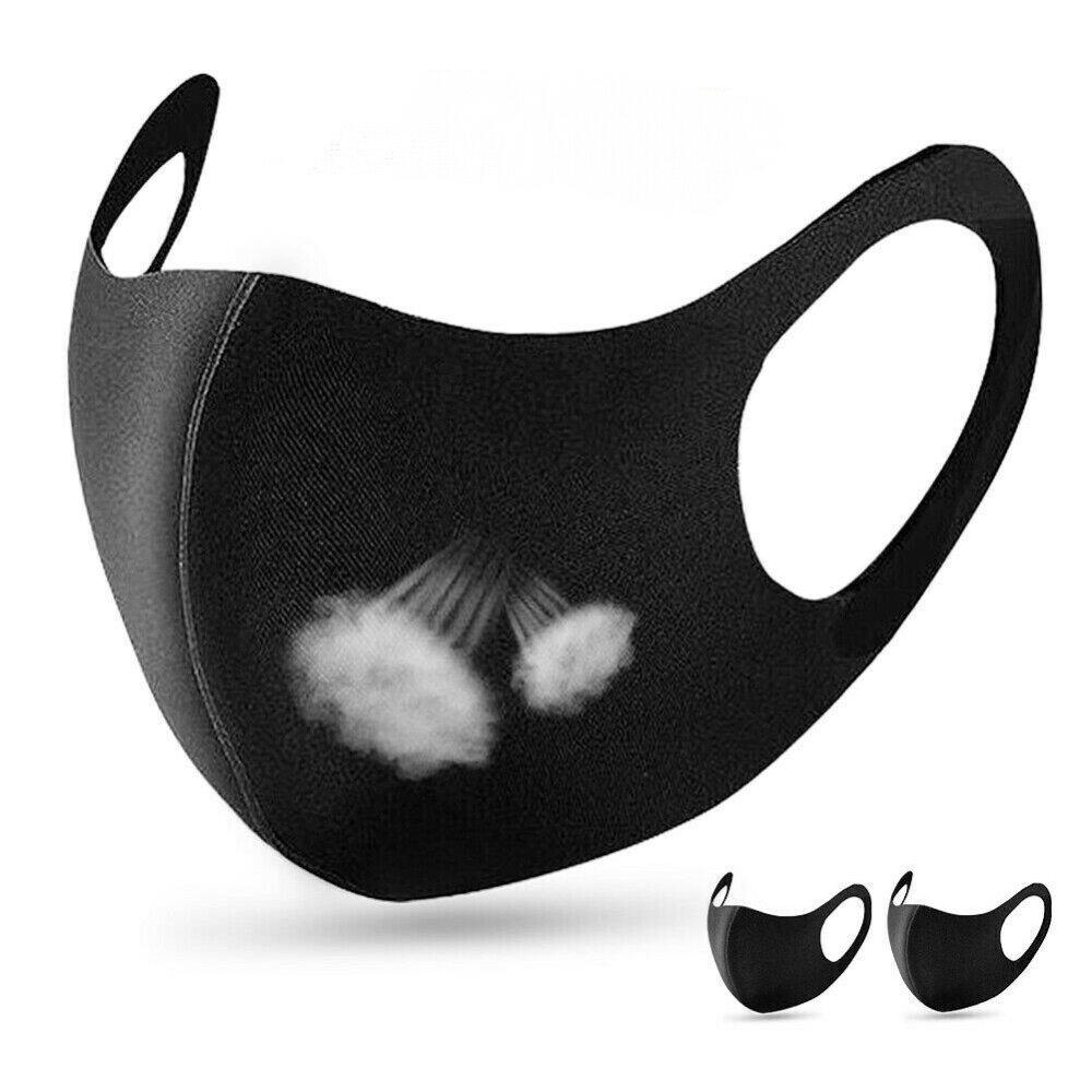 lot de 3 Masques Protection Tissu noir Lavable et Réutilisable