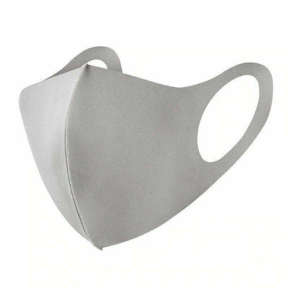 lot de 3 Masques Protection Tissu gris  Lavable et Réutilisable