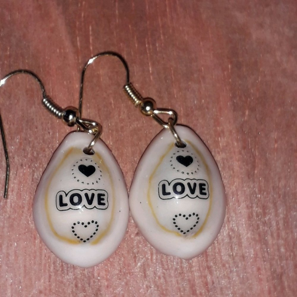 boucle d oreilles coquillages love