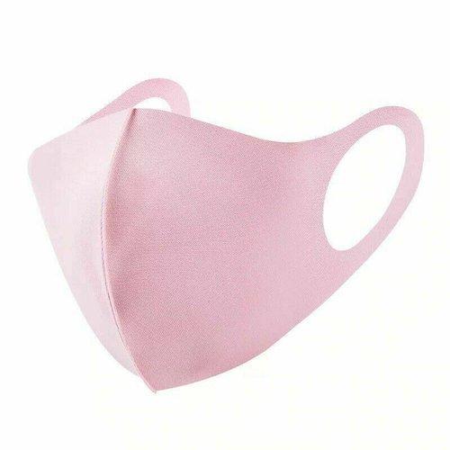 Lot de 3 masques protection tissu rose lavable et réutilisable