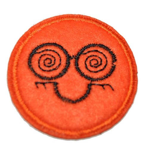 Patch smiley thermocollant coutures