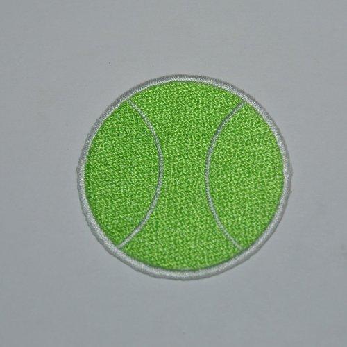 Patch balle de tennis thermocollant coutures
