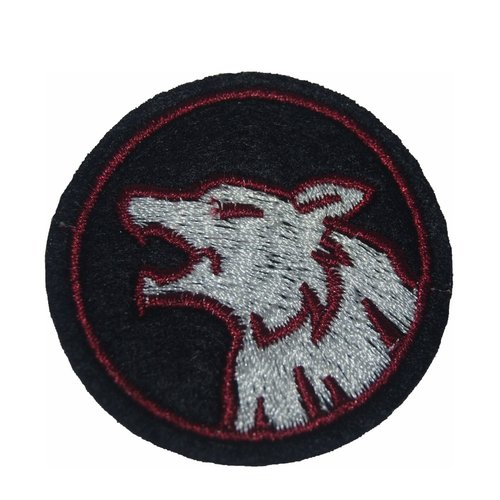 1patch chien loup ecusson thermocollant couture