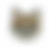 Patch chien écusson brodé thermocollant coutures