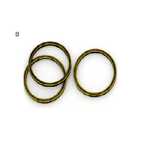Lot de 20 anneaux  fermés couleur bronze 8 mm