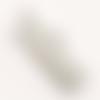 Lot de 100 embouts pinces à griffes 20 mm x 8 mm en métal argenté clair