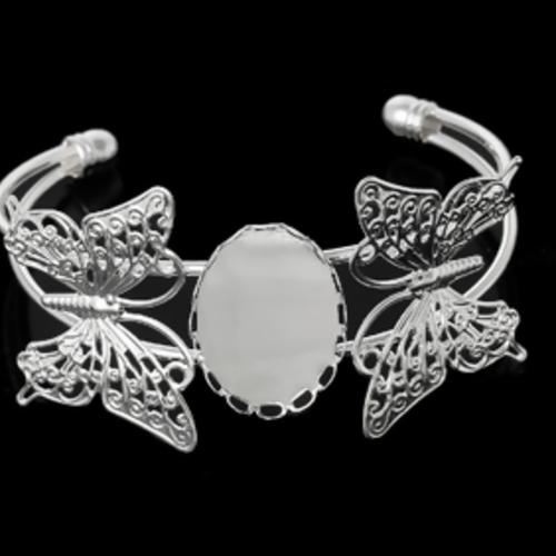 1 bracelet support cabochon papillons