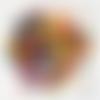 Lot de 1000 petits  boutons coloris assortis 6 mm 2 trous, scrapbooking