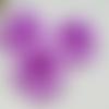 Lot de 5 fleurs en tissus violettes