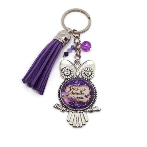 """Porte clés nounou, cadeau nounou, """"pour une chouette nounou"""""""