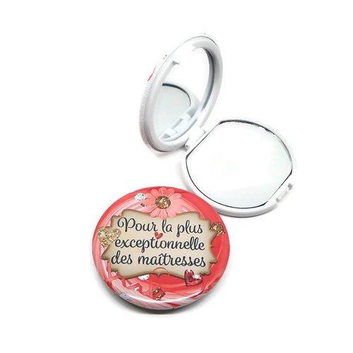 """Miroir de poche maîtresse, """"pour la plus exceptionnelle des maîtresses"""", avec boîte cadeau et pochette en velours inclu"""