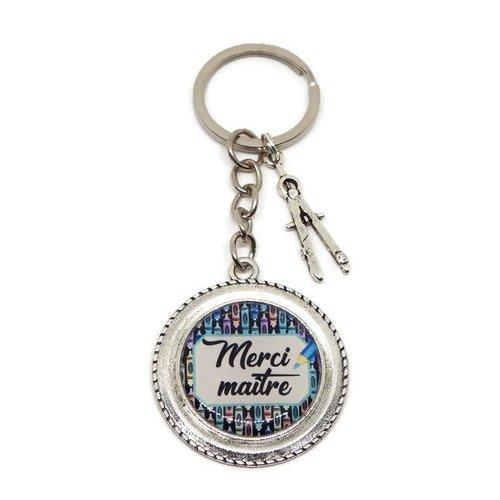 "Porte clés maître, cadeau maitre, ""merci maître"""