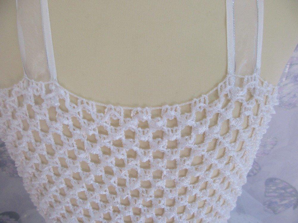 Robe tutu blanche à paillettes pour mariage ou jolie princesse