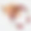 Bracelet fil mémoire perle de verre rouge