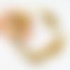 Bracelet fil mémoire perles de verre cuivre dorée